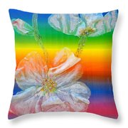 Almond Branch In The Spectrum Throw Pillow