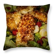 Almond Encrusted Chicken Salad 2 Throw Pillow