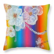 Almond Flowers On Spectrum Throw Pillow