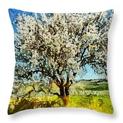 Almond Tree Throw Pillow