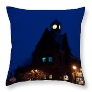 Almonte Ontario At Night Throw Pillow