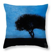 Almost Dark Throw Pillow