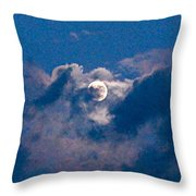 Almost Full Moon Throw Pillow