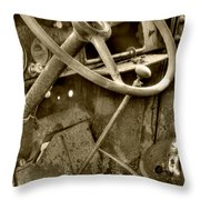Almost Gone Sepia Throw Pillow