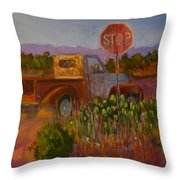 Almost Home - Art By Bill Tomsa Throw Pillow