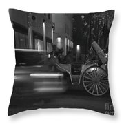 Almost Midnight - Modern Day Cinderella Throw Pillow