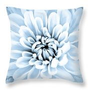 Almost Perfect-blue Throw Pillow