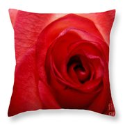 Almost Red Throw Pillow