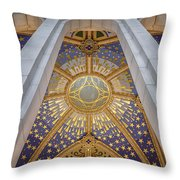 Almudena Cathedral Interior Throw Pillow
