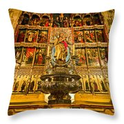 Almudena Cathedral Throw Pillow