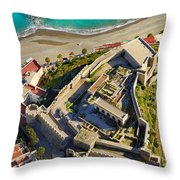 Almunecar Castle From The Air Throw Pillow