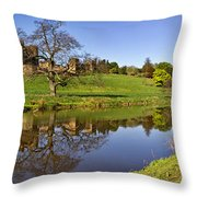 Alnwick Castle Panorama Throw Pillow