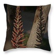 Aloe Stalk Throw Pillow