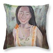 Aloha Jade Throw Pillow
