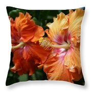 Aloha Keanae Tropical Hibiscus Throw Pillow