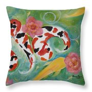 Aloha Koi Throw Pillow