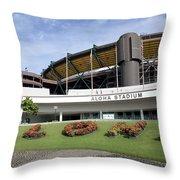 Aloha Stadium Throw Pillow