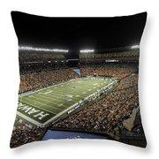 Aloha Stadium Night Game Throw Pillow