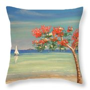 Aloha Throw Pillow by The Beach  Dreamer