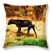 Alone And Starving Throw Pillow