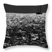 Alone At Sea Throw Pillow