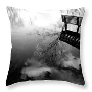 Alone I Sit Throw Pillow
