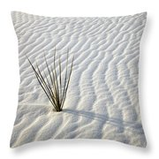 Alone In A Sea Of White Throw Pillow