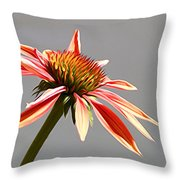 Alone In Her Beauty Throw Pillow