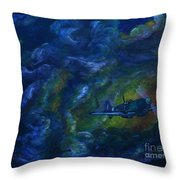 Alone In The Clouds Throw Pillow