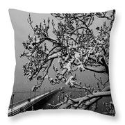 Alone In The Snow Throw Pillow