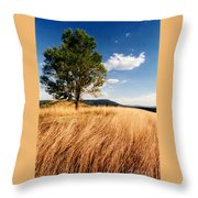 Alone On A Hill Throw Pillow