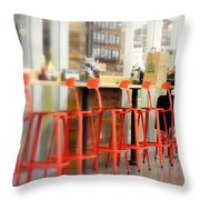 Alone On The Stool Throw Pillow