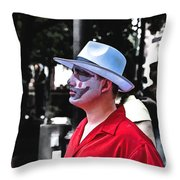 Alone Stranger Throw Pillow