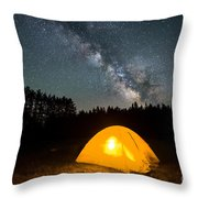 Alone Under The Stars Throw Pillow