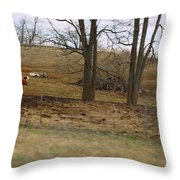 Alone With All My Buddies Throw Pillow