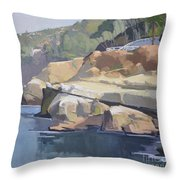 Along Coast Walk In La Jolla, San Diego, California Throw Pillow