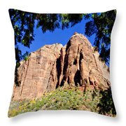 Along Emeral Pools Trail - Zion Throw Pillow