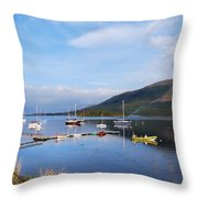Along Loch Leven 2 Throw Pillow