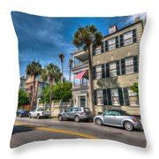 Along The Battery Throw Pillow