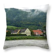 Along The Blue Danube Throw Pillow