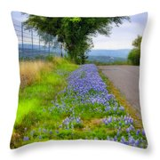 Along The By Ways Throw Pillow