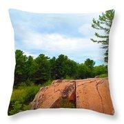 Along The Chikanashing Trail Throw Pillow