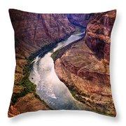 Along The Colorado River Throw Pillow