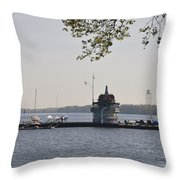 Along The Delaware River In New Jersey Throw Pillow