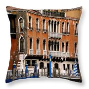 Along The Grand Canal Throw Pillow
