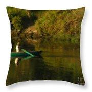 Along The Nile Throw Pillow