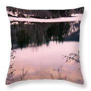 Along The North Thompson Throw Pillow