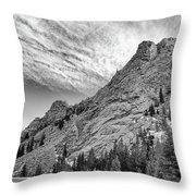 Along The Peak To Peak Throw Pillow