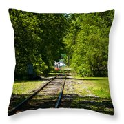 Along The Rails Throw Pillow