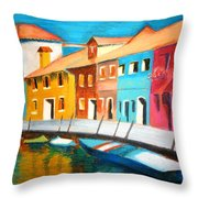 Along The Reflections 3 Throw Pillow